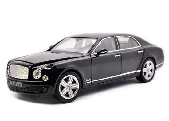 Golden / Black 1:18 Scale Diecast Bentley Mulsanne Model