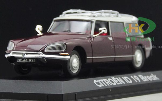 Wine Red 1:43 Scale NOREV Diecast CITROEN ID 19 Break Model