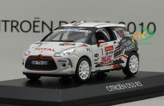 White 1:43 Scale NOREV Diecast CITROEN DS3 R3 Model