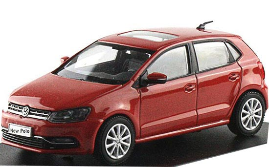 Red / Green 1:43 Scale Diecast 2014 VW NEW POLO Model