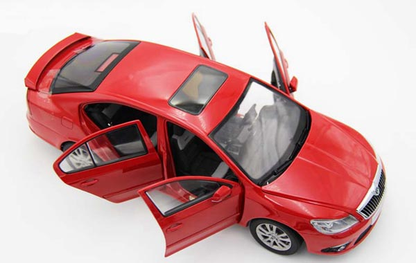 Red 1:18 Scale Diecast Skoda Octavia RS Model