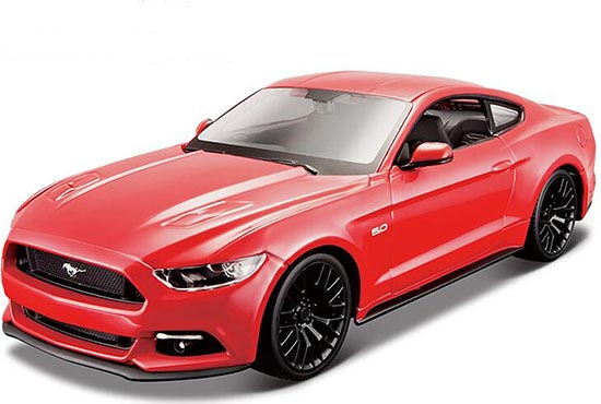 Red 1:24 Scale MaiSto Assembled 2015 Ford Mustang Model