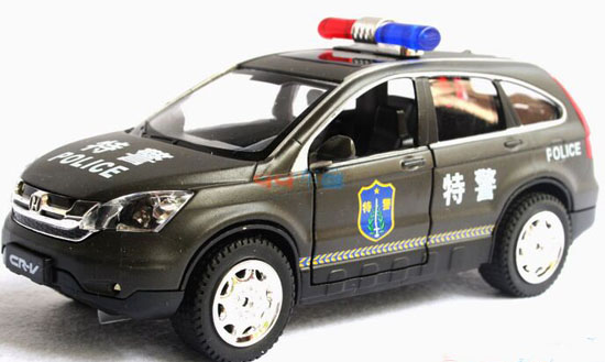 kids  scale white black police diecast honda cr  toy nat vktoybuycom
