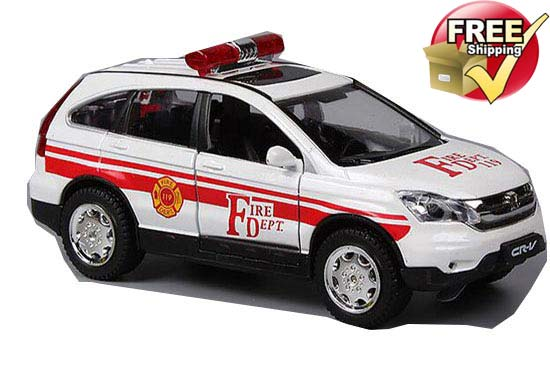 White / Red 1:32 Scale Fire Control Diecast Honda CR-V Toy
