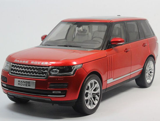 Red 1:18 Scale Diecast Land Rover Range Rover Model