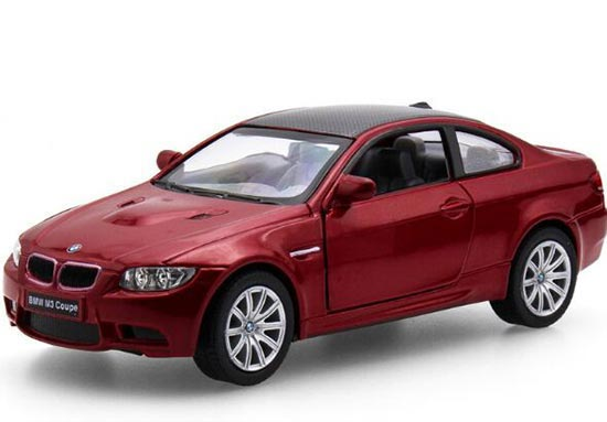 Kids 1:36 Red / Black / White / Silver Diecast BMW M3 Coupe