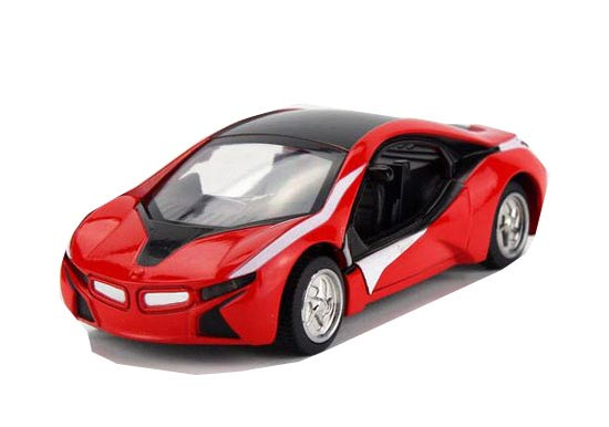 Kids White / Red 1:32 Scale Diecast BMW Concept Car Toy