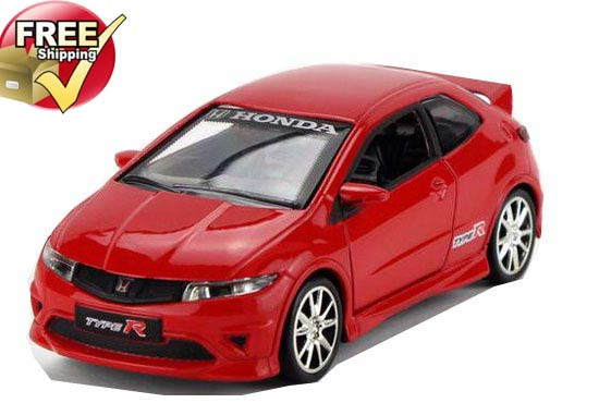 Kids 1:32 Scale Yellow / Red Diecast Honda Civic Toy