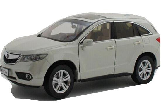 White Red Blue 1 18 Scale Diecast Acura Rdx Suv Model