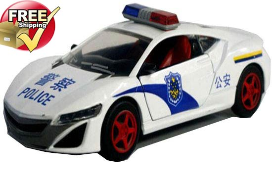 White / Red / Blue Kid 1:32 Scale Diecast Acura NSX Concept Car
