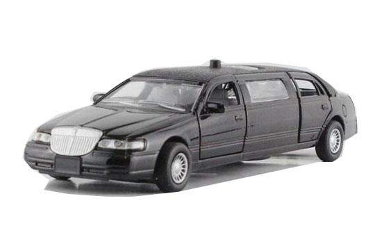 White / Black / Gray 1:32 Scale Diecast Lincoln Limousine Toy