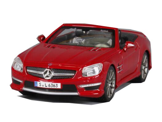 Red / Blue MaiSto 1:24 Diecast Mercedes-Benz SL 63 AMG Model