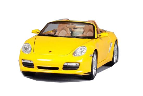 Yellow / Wine Red 1:18 MaiSto Diecast Porsche Boxster S Model