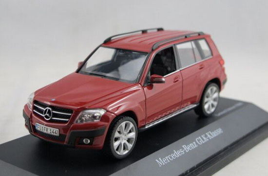Red 1 43 scale diecast mercedes benz glk 300 suv model for Mercedes benz glk 300
