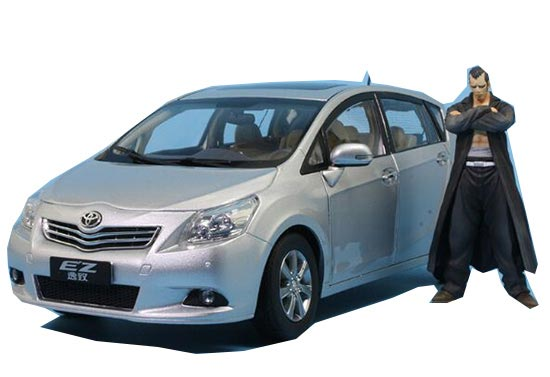 Silver / Black / White 1:18 Scale Diecast Toyota EZ VERSO Model