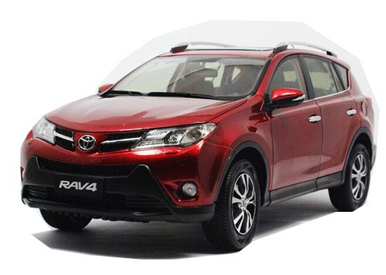 Red / Orange / White 1:18 Scale Diecast Toyota RAV4 Model