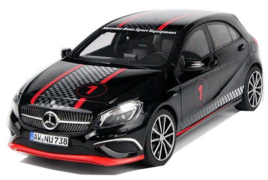 Black 1:18 Scale NOREV Diecast Mercedes-Benz A250 Model