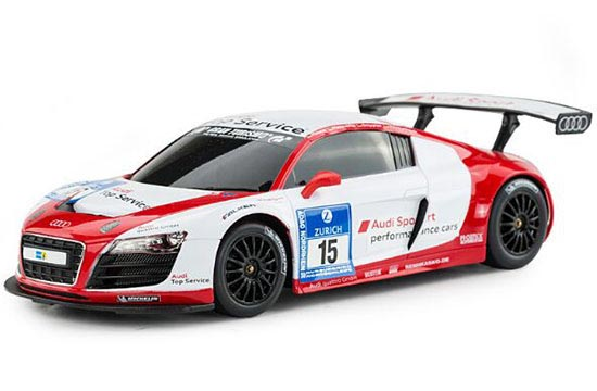Kids 1:18 Scale Full Functions Red-Silver R/C Audi R8 LMS Toy