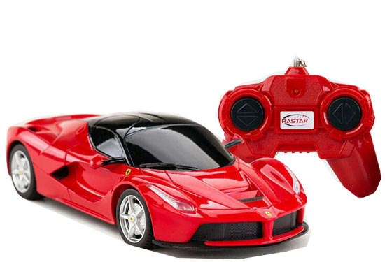 Kids Yellow / Red 1:24 Scale R/C Ferrari LaFerrari Toy