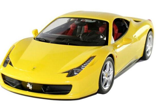 Kids Red / Yellow 1:14 Scale R/C Ferrari 458 Italia Toy