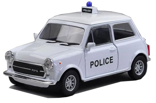 Kids White 1:36 Scale Welly Police Diecast MINI Cooper 1300 Toy