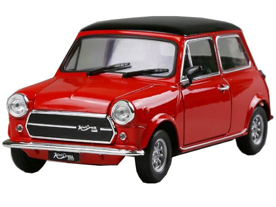 Red / Yellow 1:24 Scale Welly Diecast MINI Cooper 1300 Model