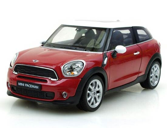 Red / Blue / Brown 1:24 Scale Welly Diecast Mini Cooper Paceman