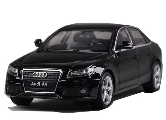 White / Black / Gray 1:24 Scale Welly Diecast Audi A4 Model
