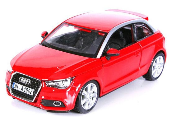 Red 1:24 Scale Bburago Diecast Assembly Audi A1 Model