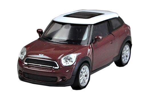 Red / Brown 1:36 Scale Kids Welly Diecast Mini Cooper Paceman