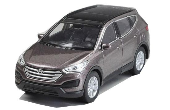 Gray / White 1:36 Scale Kids Welly Diecast Hyundai SANTA FE Toy
