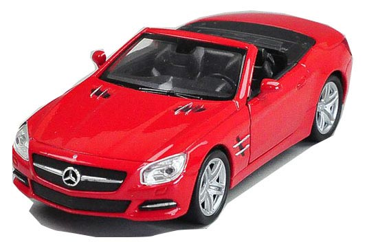 Red Kids 1:36 Scale Welly Diecast Mercedes-Benz SL500 Toy