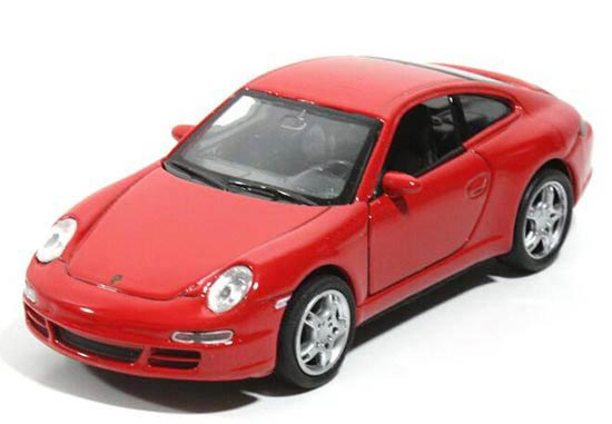 Red 1:36 Scale Welly Diecast Porsche 911 Carrera S Toy