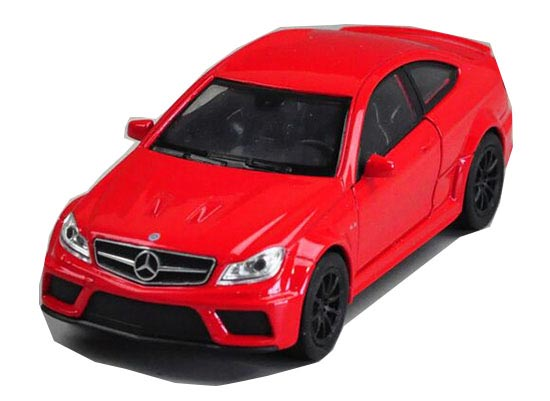 Red / White Kids 1:36 Scale Welly Diecast Mercedes-Benz C63 AMG