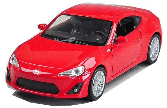 Red 1:36 Scale Kids Welly Diecast Toyota 86 Toy