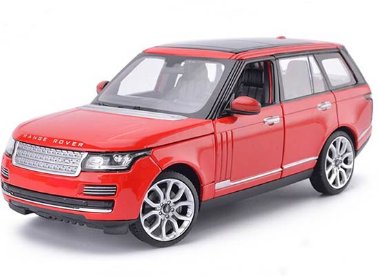 Red / Black / White 1:24 Scale Diecast Range Rover Model