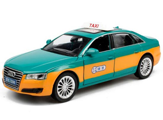 Green 1:32 Scale Kids Diecast Audi A8 Taxi Toy