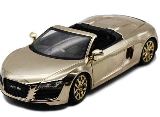 Gray / Orange / Golden 1:24 Speedy Diecast Audi R8 Spyder Model