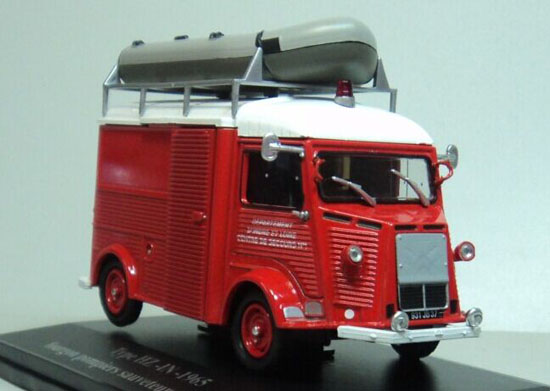 Red 1:43 Scale Diecast CITROEN TYPE HZ-IN-1965 Model