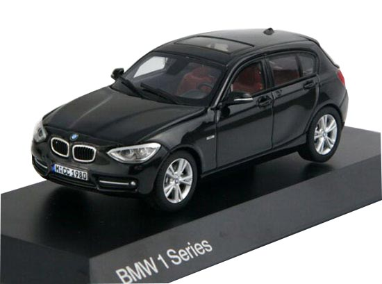 Black / Silver 1:43 Scale Paragon Diecast BMW 1 Series Model