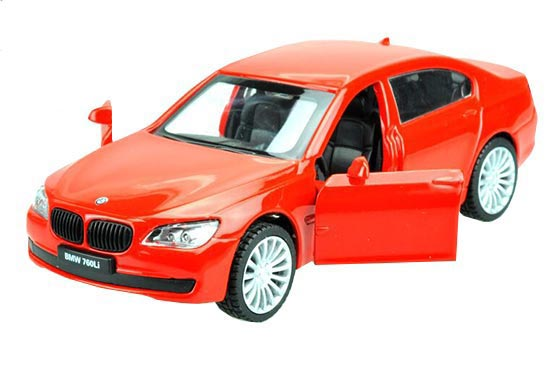 Kids 1:43 Scale Blue / Silver / Red Diecast BMW 760Li Toy