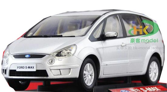 Silver 1:18 Scale Diecast FORD S-MAX Model