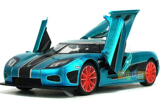 Blue / Red / Golden Kids 1:32 Scale Diecast Koenigsegg Toy