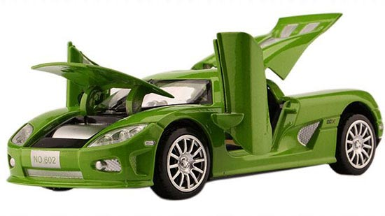 Black / Green / Orange / Blue 1:32 Diecast Koenigsegg Toy