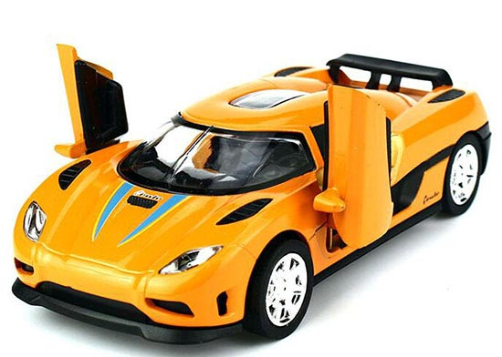 Kids 1:32 Yellow / Red / Orange Diecast Koenigsegg Agera Toy