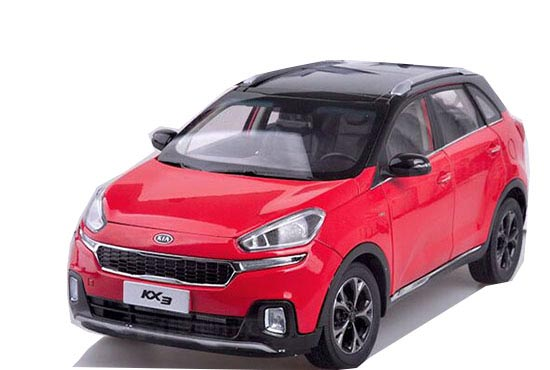 Blue / White / Red 1:18 Diecast KIA KX3 Model