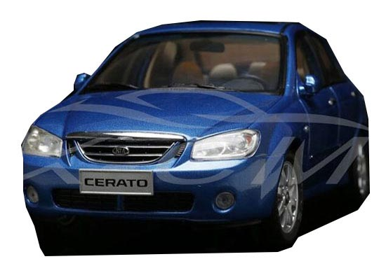 Blue 1:18 Scale Diecast KIA Cerato Model