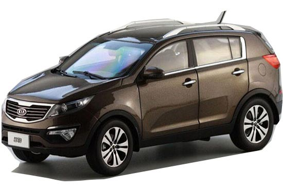 Brown / Silver / Blue 1:18 Scale Diecast KIA Sportage R Model