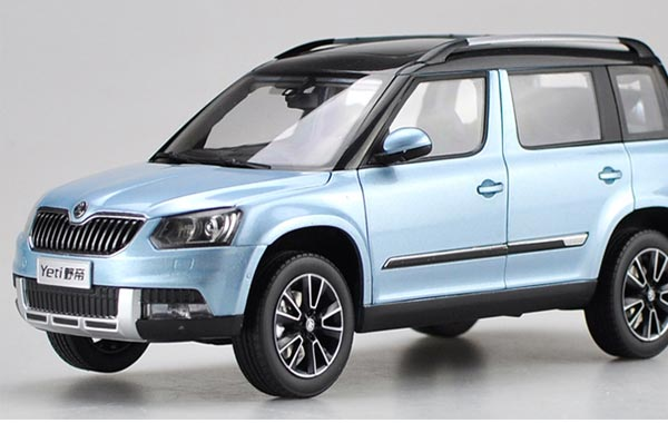 blue white brown gray 1 18 diecast skoda yeti model. Black Bedroom Furniture Sets. Home Design Ideas