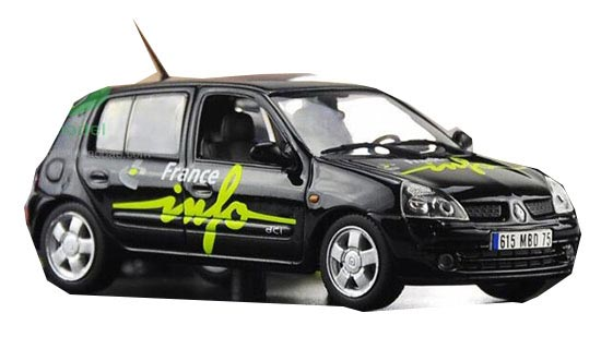 Black 1:43 Scale NOREV Diecast RENAULT Clio Model